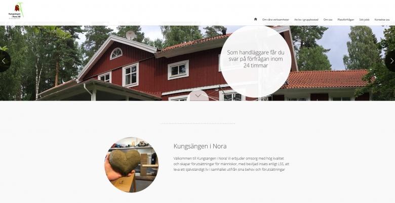 Ny webbsida lanserad för Kungsängen i Nora AB